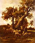 Charles Emile Jacque Sheep At Pasture painting