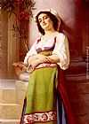 Charles Zacharie Landelle L'Italienne painting