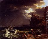 Claude-Joseph Vernet A Shipwreck In A Stormy Sea By The Coast painting