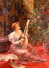 Conrad Kiesel The Lute Player painting