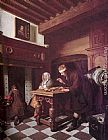 Cornelis de Man The Gold Weigher painting