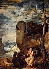 Diego Rodriguez de Silva Velazquez St. Anthony Abbot and St. Paul the Hermit painting