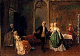 Domenico Induno The Dancing Lesson painting