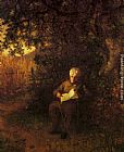 Eastman Johnson A Quiet Hour painting
