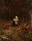Eastman Johnson Babies In The Woods painting