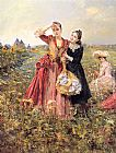 Eduardo Leon Garrido Picking Wildflowers painting