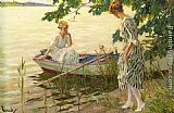 Edward Cucuel An Afternoon on the Lake painting