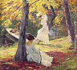 Edward Cucuel Autumn Sun painting