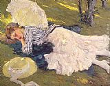 Edward Cucuel Sleepy painting