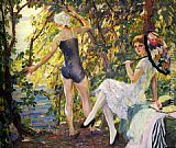 Edward Cucuel The Bathers painting