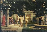 Edward John Poynter A visit to Aesclepius painting