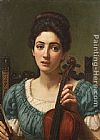 Edward John Poynter The Violinist painting