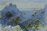 Edward Lear Eze Cote dAzur France painting