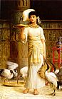Edwin Longsden Long Ale the Attendant of the Sacred Ibis in the Temple of Isis painting