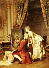 Emile Pierre Metzmacher The Artist and his Admirer painting