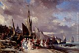 Eugene Isabey Scene De Port painting