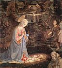 Fra Filippo Lippi Adoration of the Child with Saints painting