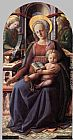 Fra Filippo Lippi Madonna and Child Enthroned with Two Angels painting