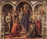 Fra Filippo Lippi Madonna and Child with St Fredianus and St Augustine painting