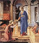 Fra Filippo Lippi The Annunciation with two Kneeling Donors painting