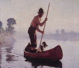 Frank Weston Benson Indian Guide painting