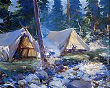 Frank Weston Benson The Camp painting