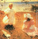 Frank Weston Benson The Sisters painting
