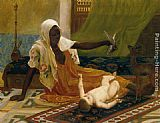 Frederick Goodall A New Light in the Harem painting