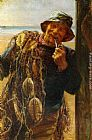 Frederick Morgan A Jovial Fisherman painting
