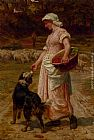 Frederick Morgan Love Me, Love My Dog painting