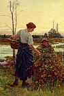 Frederick Morgan The Harvest painting