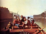 George Caleb Bingham Ferrymen Playing Cards painting