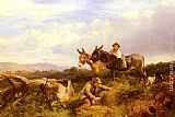 George Cole Snr Ferreting In Surrey painting