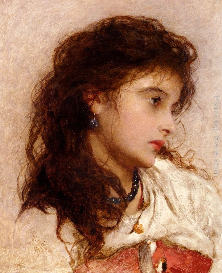 George Elgar Hicks A Gypsy Girl