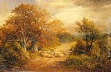 George Turner A Derbyshire Water Lane painting