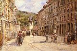 Georges Stein A Street Scene in Bern painting