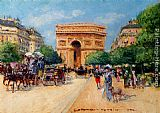 Georges Stein A Sunny Day In Paris painting
