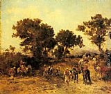 Georges Washington An Arab Hunting Party painting