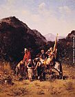 Georges Washington Riders in the Mountain painting