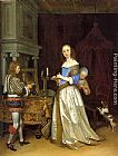Gerard ter Borch Lady at her Toilette painting