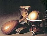Gerrit Dou Still Life with Globe, Lute, and Books painting