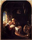 Gerrit Dou The Bible Lesson, Or Anne And Tobias painting