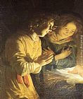 Gerrit van Honthorst Adoration of the Child painting