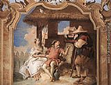 angelica Framed Prints - Angelica and Medoro with the Shepherds