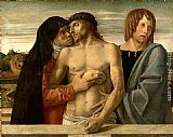 Giovanni Bellini Dead Christ Supported by the Madonna and St. John painting