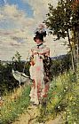 Giovanni Boldini The Summer Stroll painting