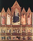 Giovanni da Milano Polyptych with Madonna and Saints painting