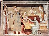 Giovanni da Milano The Birth of the Virgin painting