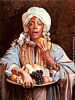 Guiseppe Signorini A North African Fruit Vendor painting