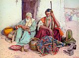 Guiseppe Signorini Arab Merchants painting